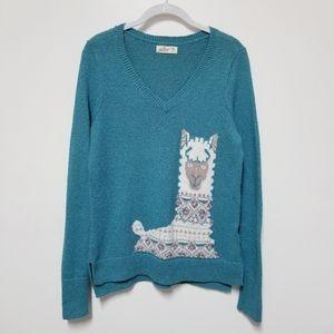 Hollister Llama Sweater Size Medium